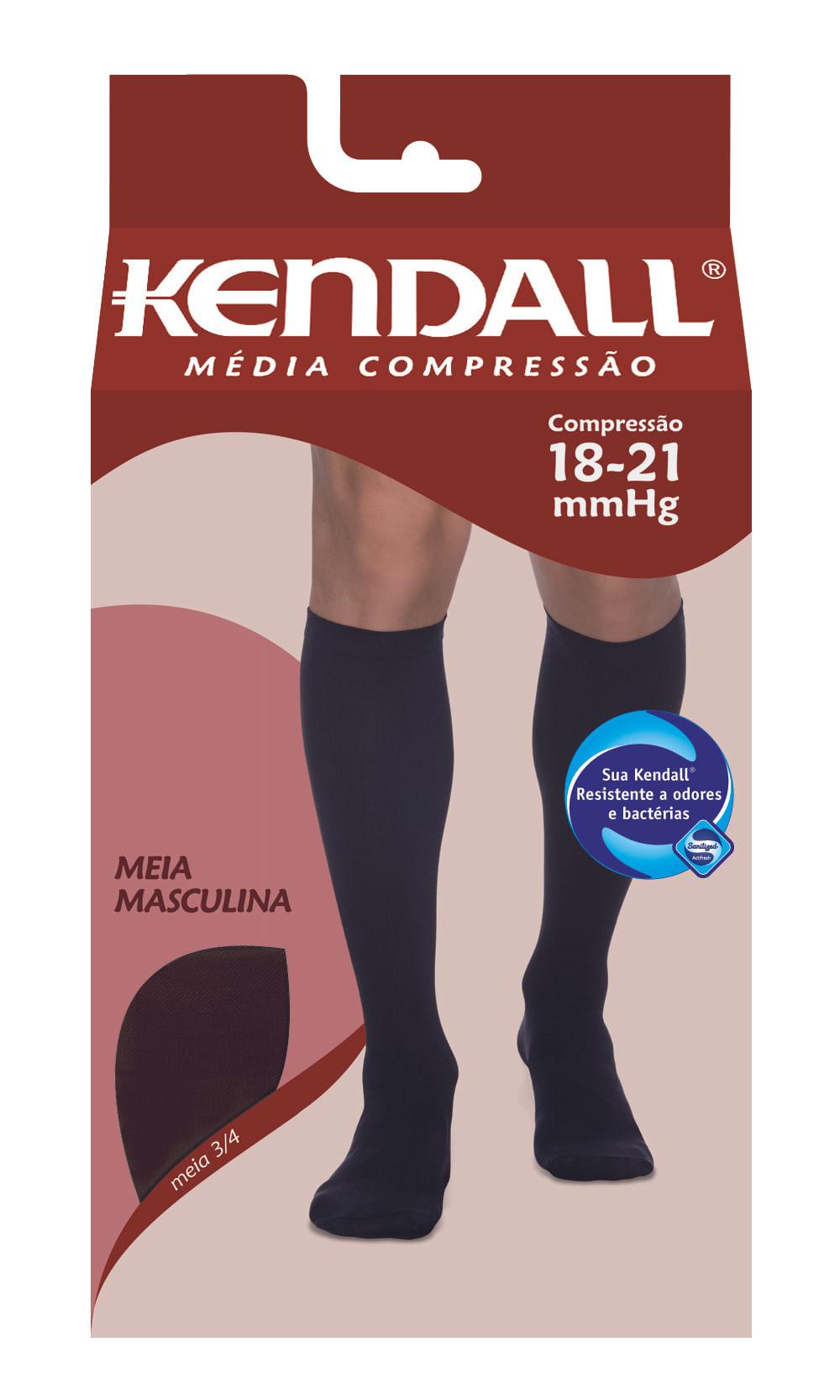 MEIA PANTURRILHA MASCULINA 18 - 21 MEDIA KENDALL PRETO PONTEIRA FECHADA P KENDAL