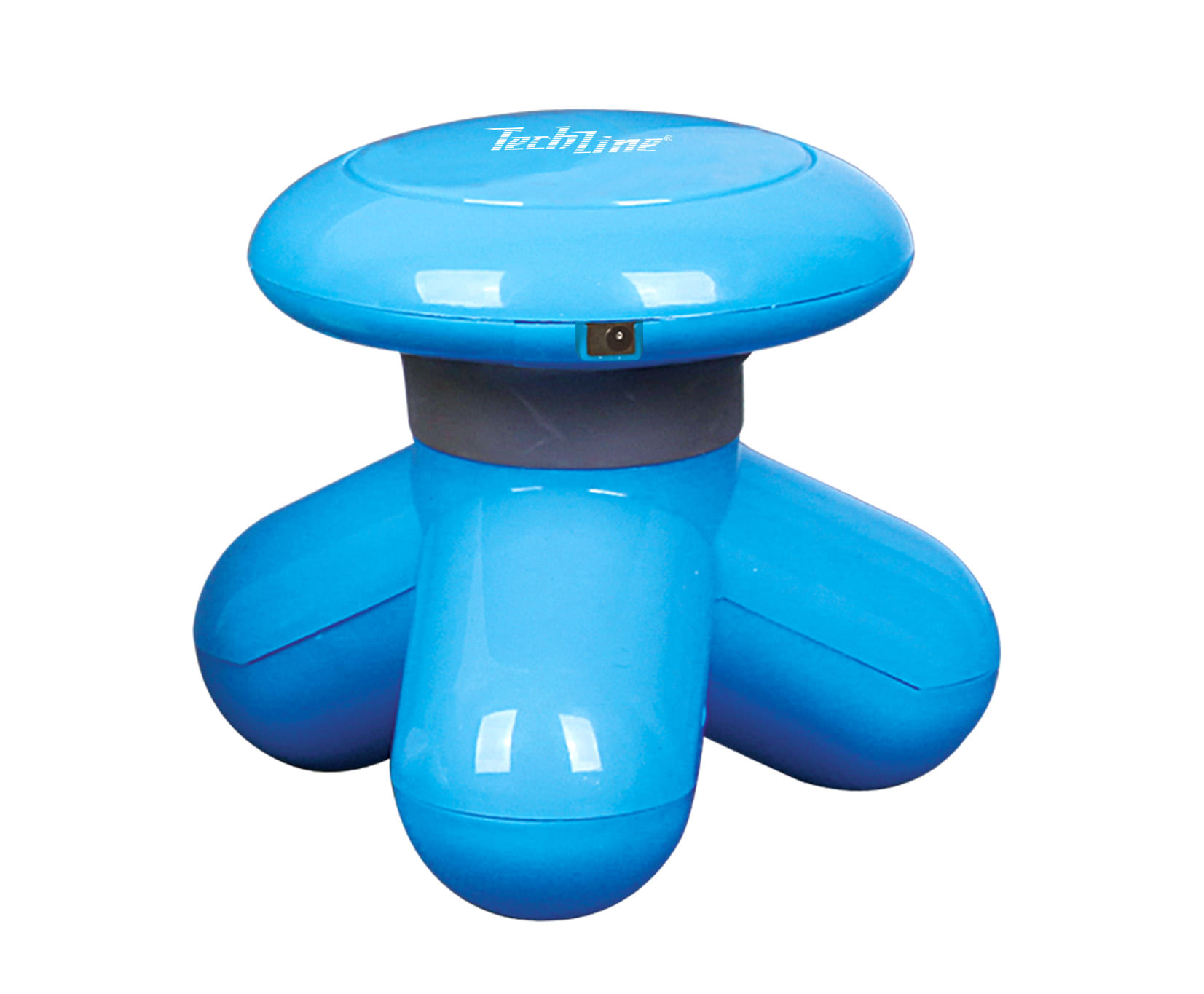 MINI MASSAGEADOR AZUL TECHLINE MASSAGEADOR DE MAO AZUL MS1000 TECHLINE