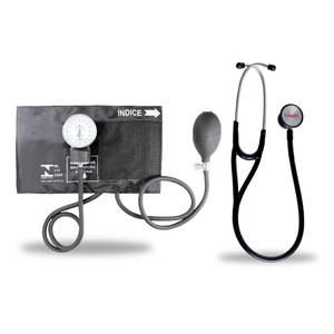 Kit-Esteto-Cardiologico-Preto-com-Aparelho-de-Pressao-Preto-Premium