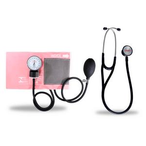 Kit-Esteto-Cardiologico-Preto-com-Aparelho-de-Pressao-Rosa-Premium
