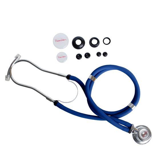 0dcaa7e93587c Estetoscópio Rappaport Azul Premium - Maconequi