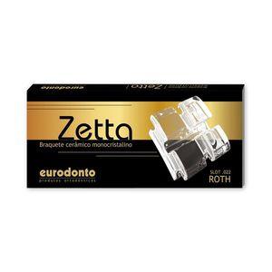 Kit-Braquete-Ceramico-Monicristalino-Zetta-Roth-com-Gancho-Caninos-e-Pre-Molar-Ref-21011ºC-P--20--Eurodonto