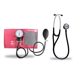 Kit-Esteto-Cardiologico-Preto-com-Aparelho-de-Pressao-Vinho-Premium