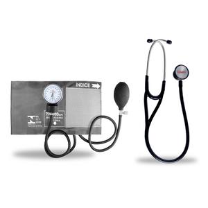 Kit-Esteto-Cardiologico-Preto-com-Aparelho-de-Pressao-Grafite-Premium