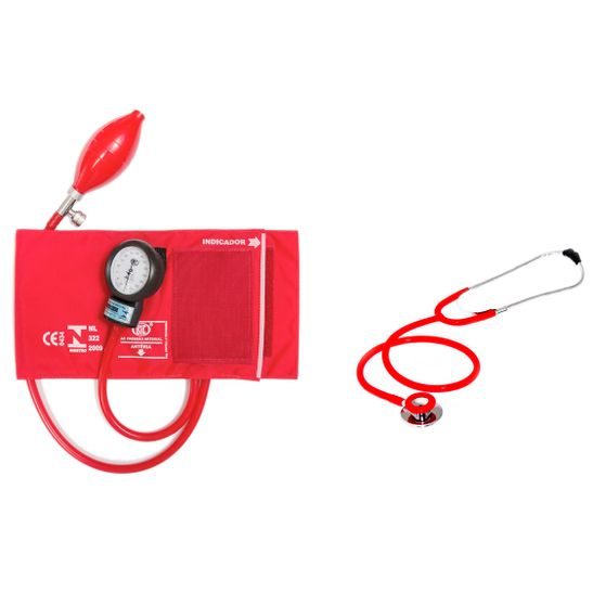 Aparelho-de-Pressao-com-Estetoscopio-Duplo-Vermelho-CJ0730-Bic
