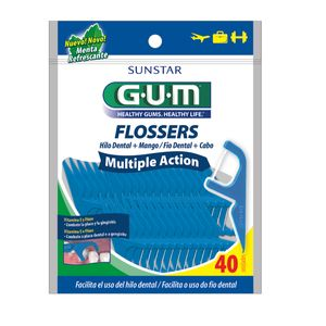 Fio-Dental-com-Cabo-Flossers-Multiple-Action-Gum