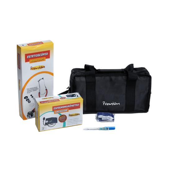 Kit-Academico-com-Estetoscopio-Rappaport-Azul-Premium
