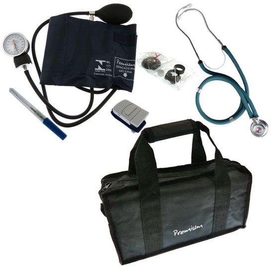 Kit-Academico-com-Estetoscopio-Rappaport-Verde-Premium