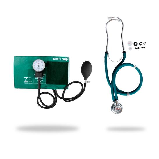Kit-Esteto-Rappaport-Verde-com-Aparelho-de-Pressao-Verde-Premium