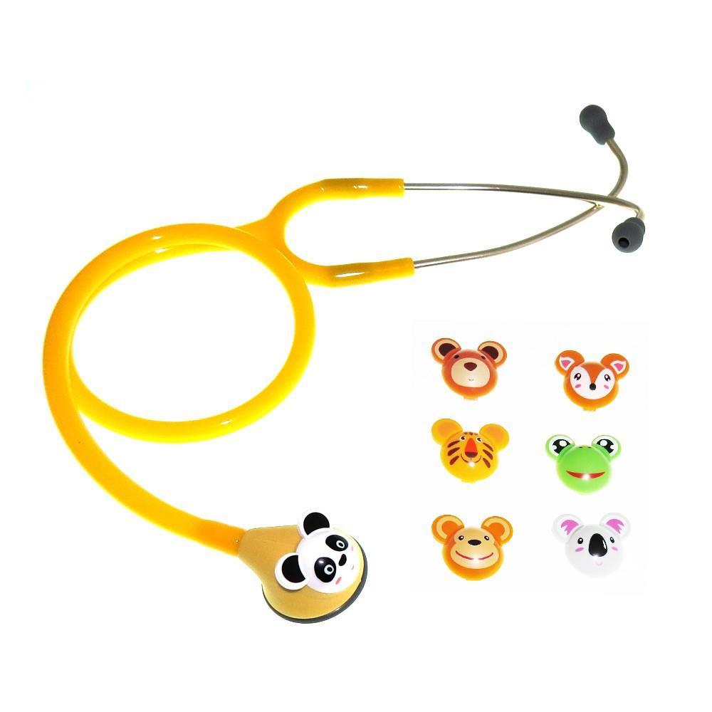 Estetoscópio pediátrico Master Lite fun animal amarelo Spirit