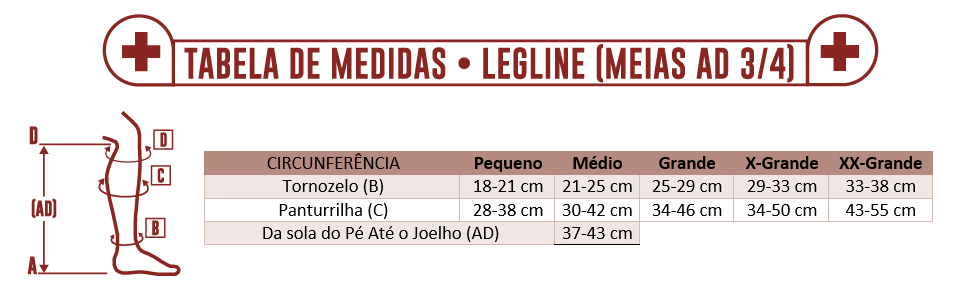 274f60970 MEIA PANTURRILHA AD 20-30 LEGLINE VENOSAN - Maconequi