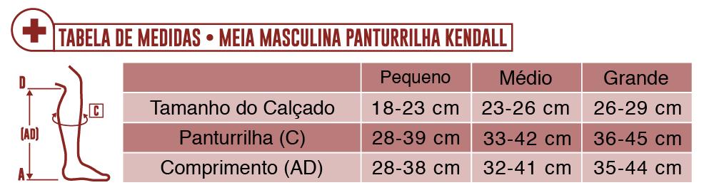 f8fef912f MEIA PANTURRILHA MASCULINA 18-21 MEDIA KENDALL - Maconequi