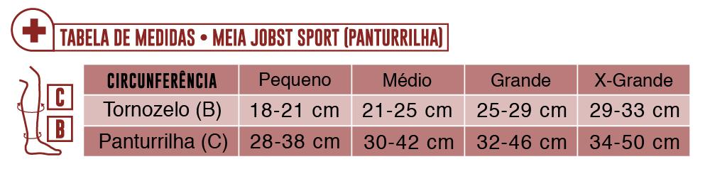 Tabela de Medidas Jobst Sport