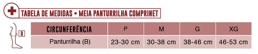 Tabela Meia Panturrilha Comprinet