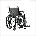 Cadeira de rodas de aço da Jaguaribe na Loja da Maconequi
