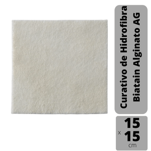 Curativo-Biatain-Alginato-AG-15x15cm-Coloplast-3765