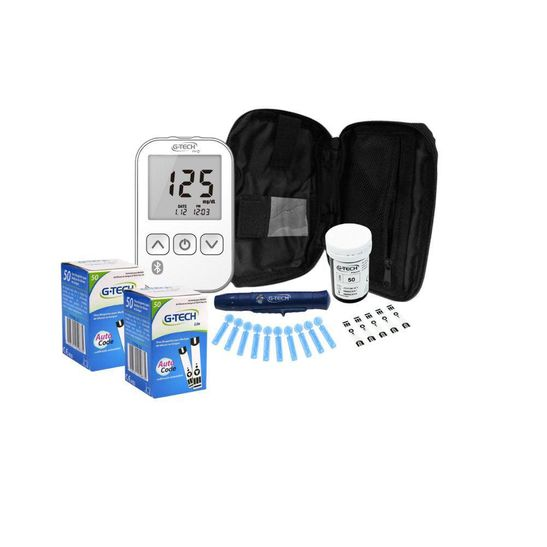 Kit-Medidor-de-Glicose-Free-Lite-Smart-100-Tiras-G-Tech