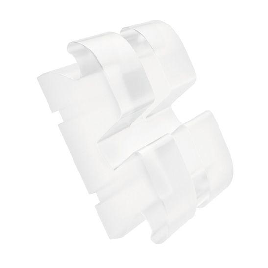 Kit-Braquete-Ceramico-Policristalino-Maia-Light-Roth-com-Gancho-Caninos-e-Pre-Molar-Ref-1011ºL-C-P