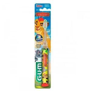 Escova-Dental-Guarda-do-Leao-Kion-e-Fuli-Laranja-com-Luz-que-Pisca-Gum